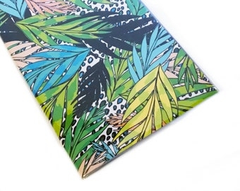 2022 - 2023 pocket calendar - Tropical - mini calendar - pocket planner datebook - retro 80s tropical jungle leopard print pastel