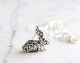 Silver Bunny Rabbit | Easter Charm Necklace