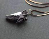 Pocket Knife Necklace Eagle Flying Patriotic Bird