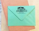 Custom House Address Rubber Stamp - Custom Address Stamp - Custom House Drawing