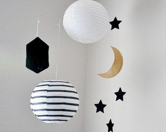Moon and Stars Mobile // Wall Decor // Custom Colors