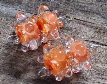 BHG  Orange sherbet waterdrop pair