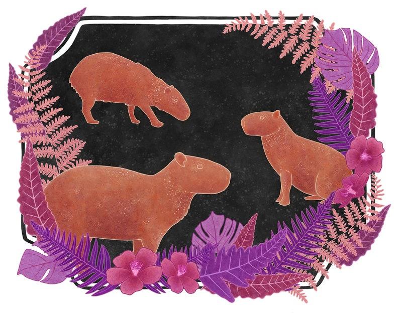 Capybaras Print
