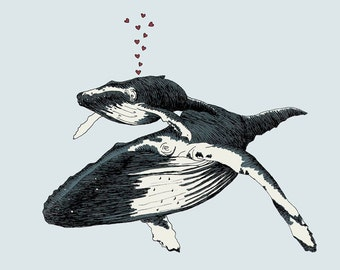 Whale Always Be Together print