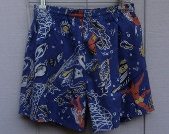 9c98d5e84f Vintage Cotton Swim Board Shorts ~ Newport Surf & Sport Trunks // size 32