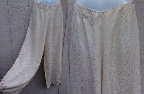 Vintage 30s Champagne SILK pajamas ~ Lounge pants