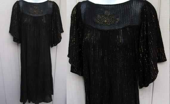 Vge SIGOURA Metallic Gold and Black Crinkle cotton