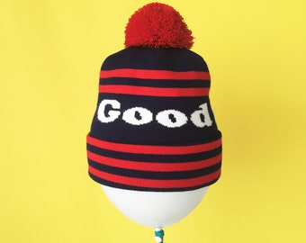 9db39c7149d Personalized Knit Beanie Hat - 5 Stripe - Custom Colors and Text