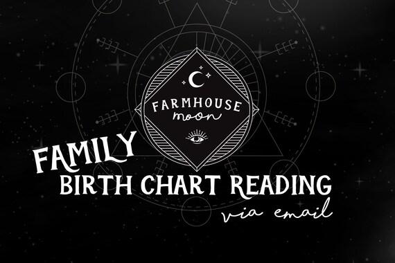 Family Birth Chart Reading Natal Chart Reading Emailed Etsy
