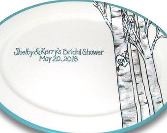 Birch Forest Wedding Signature Platter / Guest Book Alternative