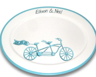 Bicycle Built for Two Wedding Signature Platter / Guest Book Alternative