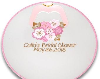 Wedding Dress Bridal Shower Guest Signature Plate / Guest Book Alternative