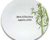 Lucky Bamboo Personalized Wedding Signature Plate Guest Book Alternative