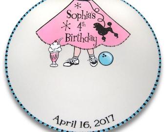 Sock Hop Retro Birthday Signature Plate / Guest Book Alternative