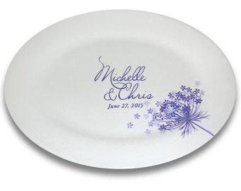 Queen Anne Lace Monogram Wedding Signature Platter / Guest Book Alternative