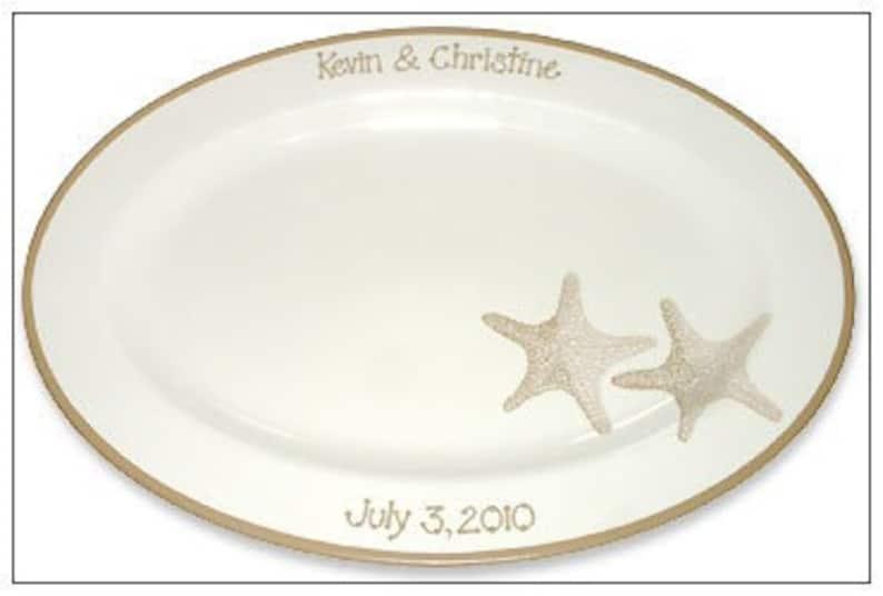 Starfish Beach Wedding Guest Signature Platter  Guest Book Alternative