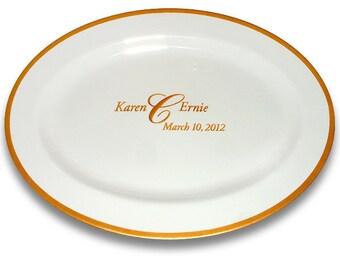 Custom Monogram Wedding Signature Platter / Guest Book Alternative