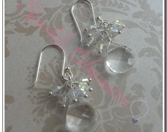 Swarovski Briolette Cluster Earrings