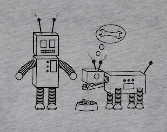 Robot & Robot Dog Womens Tee