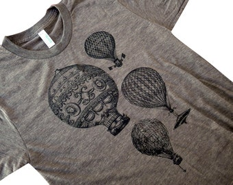 Hot Air Balloon T-Shirt - Vintage Balloons Mens T-Shirt - Available in sizes S, M, L, XL