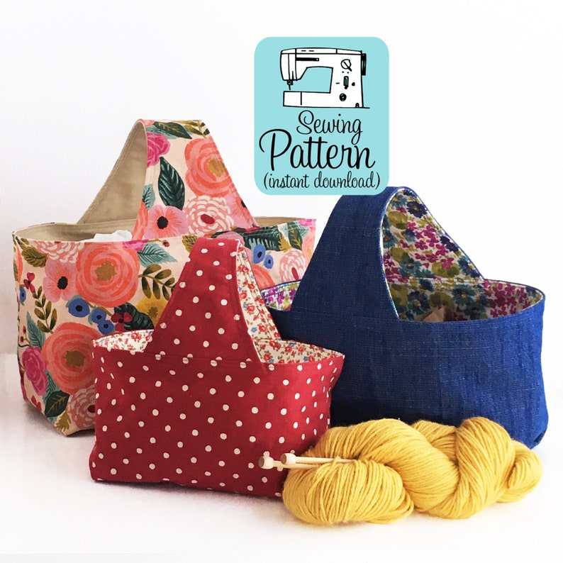 Basket Bags PDF Sewing Pattern Digital Delivery: Make image 0