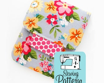 Mending Kit PDF Sewing Pattern: Intermediate sewing project tutorial to make a padded pouch to use as a sewing kit or for other storage.