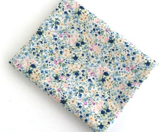 Blue Watercolor Fabric: FAT QUARTER of Petite Garden in blue by Sevenberry for Robert Kaufman