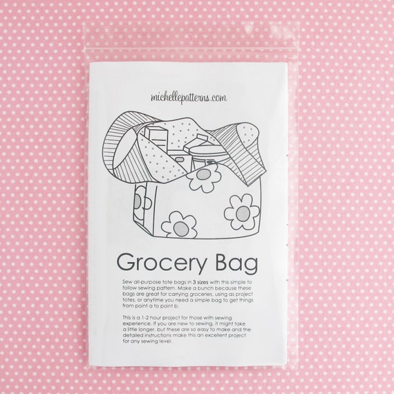 PRINT VERSION Grocery Bag Sewing Pattern: Make simple totes to   Etsy