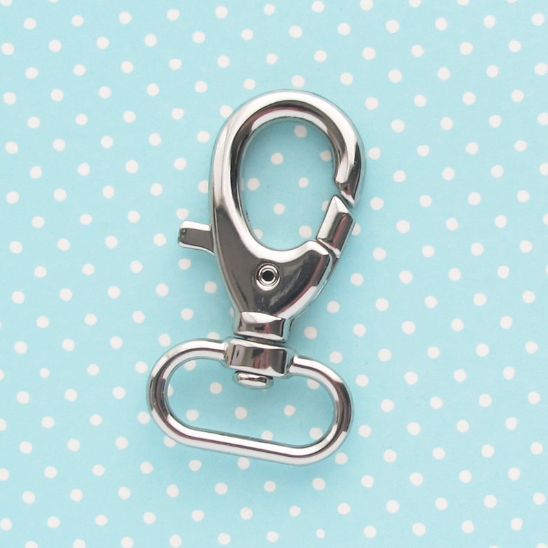 Extra Large Swivel Clip: Lobster clasp snap hook for wristlet image 0