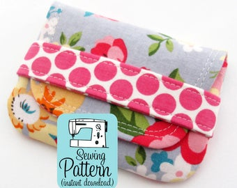 Card Wallets PDF Sewing Pattern | Quick to sew pouches to use for gift cards, credit or debit cards, business cards, or coin purses.