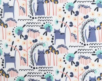Elsie's Cat quilting cotton sewing fabric from Glory by Megan Carter for Cotton + Steel