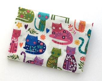 Cat Print Fabric: REMNANT Cats Allover from Katie's Cats from Makower