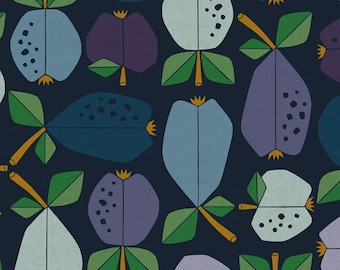 Fruit Print Cotton Linen Fabric: Under The Apple Tree CANVAS by Loes Van Oosten for Cotton + Steel