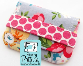 Card Wallets PDF Sewing Pattern (Digital Delivery): Quick to sew pouches to use for business cards or rewards or gift cards.