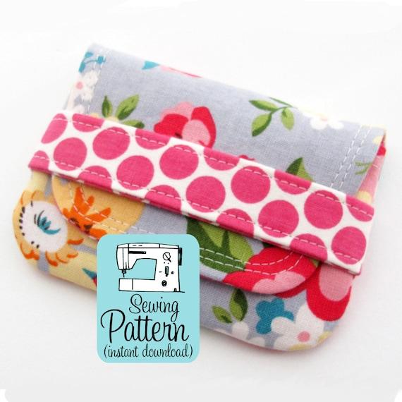 Card Wallets Pdf Sewing Pattern Make Quick To Sew Envelope Etsy