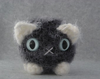 Your choice of colors crocheted plush kitty