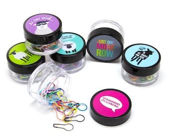 Stitch Marker Set, Locking Stitch Markers, Tailors Pin Set, Knitting Notions, Crochet Tools, Sheep Stitch Markers