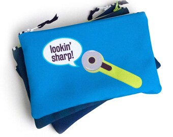 Zipper Bag, Sewing Pun, Sewing Notions Bag, Rotary Cutter