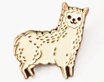Enamel pin kawaii llama pin, ALPACA / LLAMA enamel pins, kawaii cute pins, alpaca pin, brooch, lapel pin, animal enamel pin, animal pins