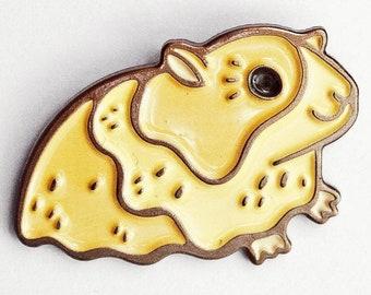 Cute Enamel Pins - Guinea Pig Enamel Pin - Lapel Pin - Cute Kawaii Enamel Pin, Gerbil Pin, Cute Pins, guinea pig gifts, kawaii pins enamel
