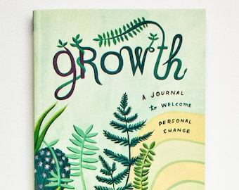 GROWTH Journal with Prompts — Personal Growth Gift — Birthday Gifts for Yourself — Goal Setting Book — Guided Journal — Gifts for Self Care