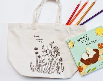 Cute TOTE BAGS for kids, tote bag for toddler, canvas tote bag, tote bag for toddler, small tote bag, organic tote bag, screen printed tote