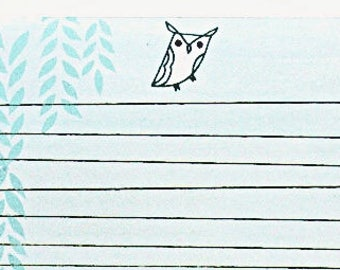 Letter pad - HORNED OWL letter paper, kawaii stationery paper gifts, paper goods, kawaii stationary, gifts under 10, writing paper