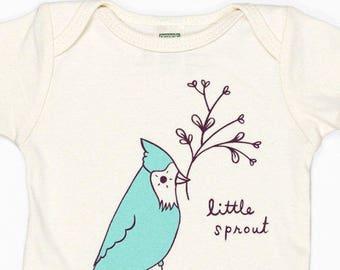 newborn baby gift ideas - organic baby boy clothes, vegan baby clothes, new baby gift, little sprout, organic baby clothes, vegan baby gift