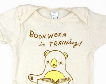 Book lover baby gift - bookish baby clothes, book nerd baby outfit, book lover gift, boy baby gifts, bookworm baby, literary baby clothing