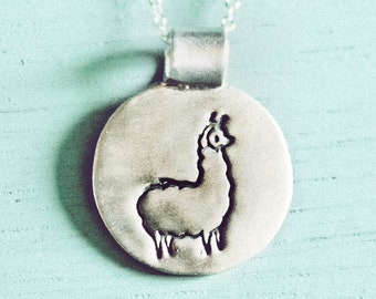 Llama Necklace / Silver Llama Jewelry - Eco-Friendly Sterling Silver Alpaca Necklace Alpaca Jewelry Llama Charm