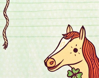 Horse Gifts for Girls - Pony Gift, Equestrian Gift for horse lover, HORSE stationary notepad stationery, boygirlparty, party favor, friesian