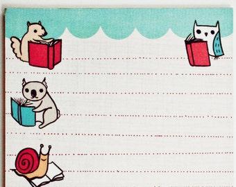 Gift ideas for book lovers - NOTEPAD - bookish items, literary book lover gift, book nerd, book reader, teacher / librarian, school supplies