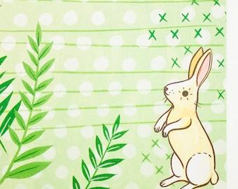 Cute bunny stationary, rabbit lover gift, bunny rabbit stationary, rabbit notepad, bunny notepad, animal notepad, stationary notepad
