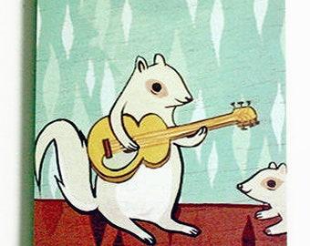 boygirlparty SQUIRREL NOTEPAD, kawaii note pad, kids stationery paper, kawaii stationary notepad, pad of paper for kids squirrel note pad